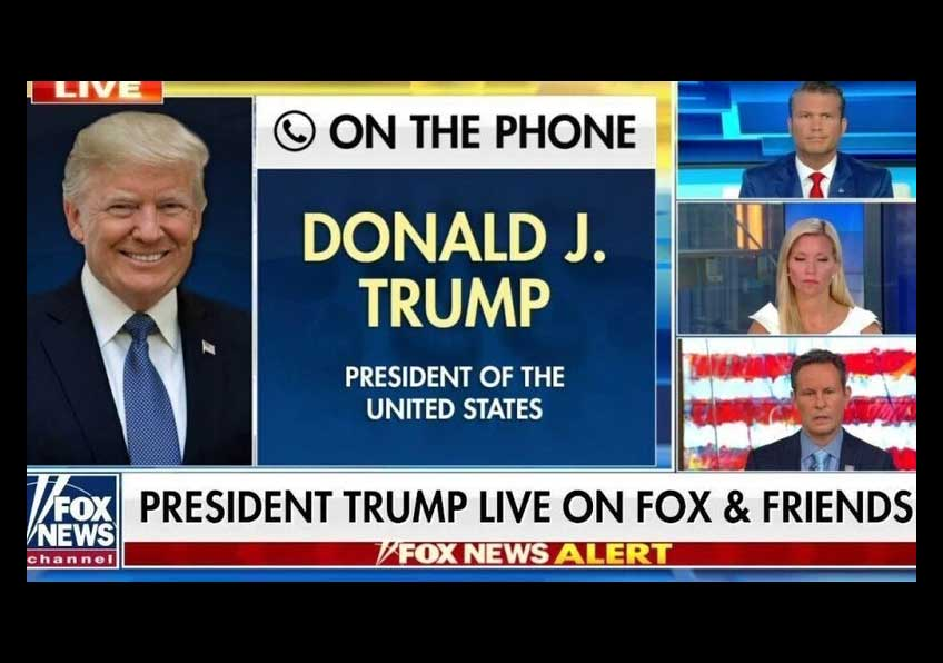 Screen grab of Fox News