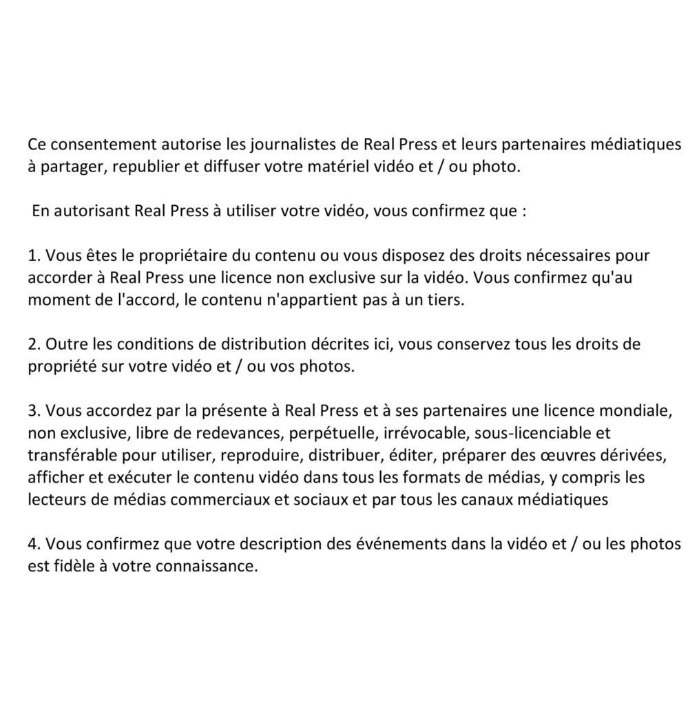 Media use consent agreement (FR)